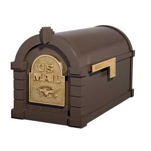 Gaines Eagle Keystone MailboxesBronze with Polished Brass