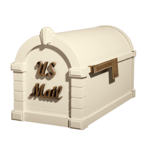 Gaines Signature Keystone MailboxesAlmond with Antique Bronze