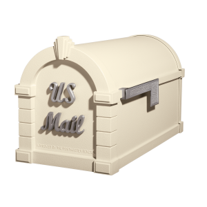 Gaines Signature Keystone MailboxesAlmond with Satin Nickel